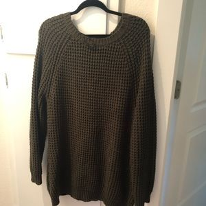 Forever 21+ Women's Plus-Size Olive Tunic Sweater